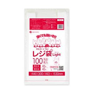 【100枚】RSK-45bara レジ袋 ライト 薄手タイプ 西日本 45号 (東日本45号)  0.016mm厚 乳白 100枚 1冊252円|poly-stadium