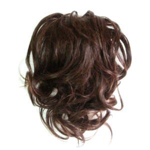 和装にもお勧め  ネコポス可 前髪を残してつむじ付近で自毛を纏め、バレッタ式ウィッグを被せて固定し...
