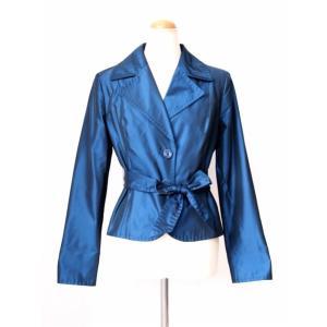 マックスマーラー シルクミックス ブルー ジャケット Max Mara|pomps