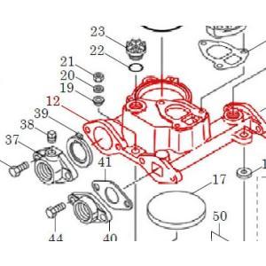 カワエースN3部品 (12) ケーシング N(セット) カワエースN3-135.136用|pompu