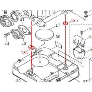 カワエースN3部品 (18-1、18-2) クッション 30X20 カワエースN3-135.136用|pompu