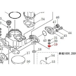 カワエースN3部品 (19) クッション 9.5 3個セット カワエースN3-135.136用|pompu