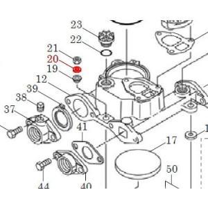 カワエースN3部品 (20) 平座金 8 3個セット カワエースN3-135.136用|pompu