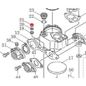 カワエースN3部品 (21) ナット M8 3個セット カワエースN3-135.136用|pompu