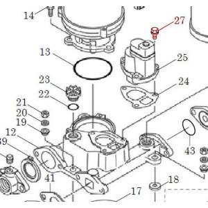 カワエースN3部品 (27) 座金組込ボルト M8X25 3個セット カワエースN3-135.136用|pompu