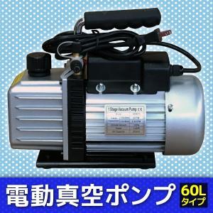 電動逆流防止真空ポンプ 小型 シングルステージ 家庭用 カーエアコン ルームエアコン オイル逆流防止弁付 排気速度 60L|pond