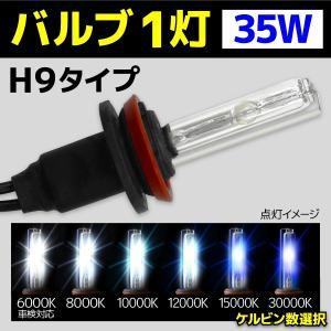 HID バルブ バイク専用 ヘッドライト 1灯 交換バルブ H9 35W 1本 6000k 8000k 10000k 12000k 15000k 30000k バーナー オートバイ BBA981|pond