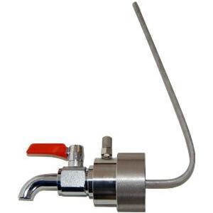 BVA-50I 一斗缶用 ペールコック エア抜きパイプ付 缶口外径48.8mm用 一般油/洗剤/ワックス/低 中粘度オイル用 BVA50I|ponpu