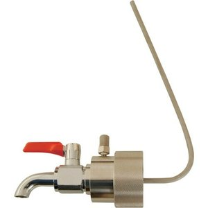 BVA-40P ペール缶用 ペールコック エア抜きパイプ付 缶口外径41mm用 一般油/洗剤/ワックス/低 中粘度オイル用 BVA40P|ponpu