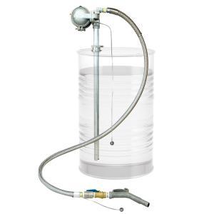 DF6D-20AS エアダイヤフラム式ドラムポンプ 200Lドラム缶用 ダイヤフラムポンプ 本体アルミ製 ホース 溶剤用 DF6D20AS|ponpu