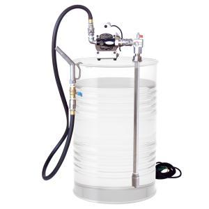 EVD-100 ドラムポンプ AC100V ドラム缶 オイル用 ポンプ 高粘度対応 対油ゴムホース2.4m/吸入パイプ付 EVD100|ponpu
