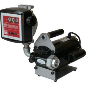 K33EV-100 電動ポンプ 簡易機械式流量計付 オイル用 エンジンオイル K33EV100|ponpu