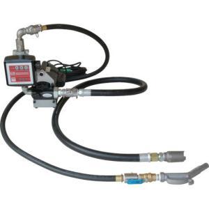 K33EVH-100 電動ポンプ ホース接続用 簡易機械式流量計付 オイル用 エンジンオイル K33EVH100|ponpu