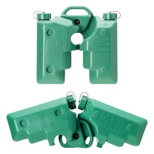 KYおもし グリーン バリケード用 軽量 10リットル 水タンク 単管 フェンス|ponta-ponta