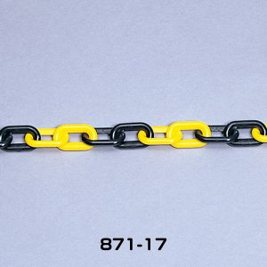ユニット プラスチックチェーン 40.0m 871-17 黄/黒 ポリエチレン 軽量|ponta-ponta