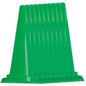 カラフルコーン10本セット 赤/青/緑/黄 H700mm 工事保安用品 カラーコーン|ponta-ponta|04