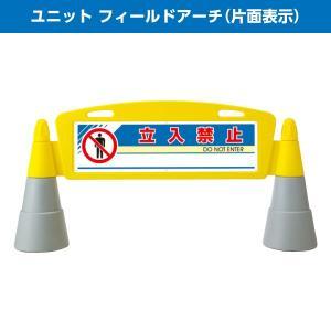 ユニット フィールドアーチ 片面 POPサイン サインボード 工事 作業 看板 パネル 駐車禁止 立入禁止など メーカー直送 送料無料|ponta-ponta