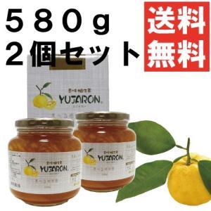 送料無料 香味 柚子茶 ユジャロン580g2個セット ゆず茶|ponte