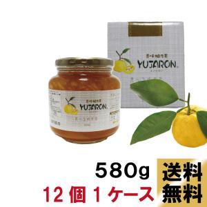 送料無料 香味 柚子茶ユジャロン580g 12個入り1ケース ゆず茶|ponte