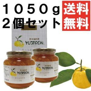 送料無料 香味 柚子茶 ユジャロン 1050g2個セット ゆず茶|ponte
