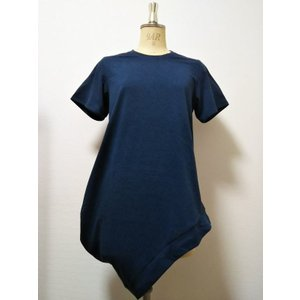 <SALE> 50%OFF 3tsui すそ変形カットソー(NAVY)|poompoom