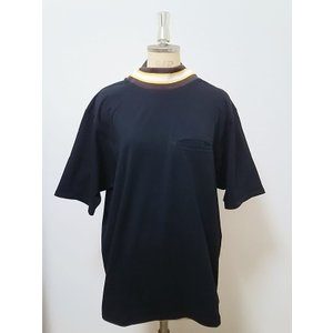 <SALE> 50%OFF 定価¥17,600 Pourton de moi MOCK NECK LINE RIB OVER SLEEVE TEE (BLACK)  ポアトアデモア モックネックリブ Tシャツ|poompoom