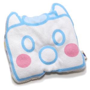 ベビーピロー 枕 ガーゼ キャラクター 授乳 新生児 赤ちゃん ライトブルー pop-collection