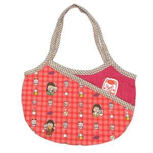 キッズ用グラニーバッグ ポケットとワッペン付き おばばのり pop-collection