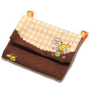 キャラクター移動ポケット クリップ付き 移動ポーチ  付けポケット ブラウン×オレンジ ハニー pop-collection