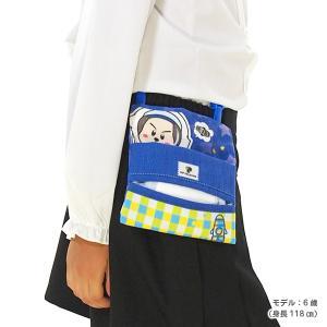 キャラクター移動ポケット ブルー クリップ付き ポケットポーチ 移動ポーチ イヌメンZ pop-collection