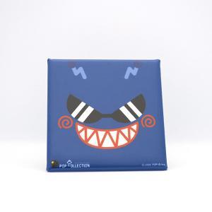 置物 かわいい 小さい 缶バッジ 缶バッチ 缶バッヂ スタンドクリップ付き スクエア 四角 青 ブルー アオビヨ|pop-collection