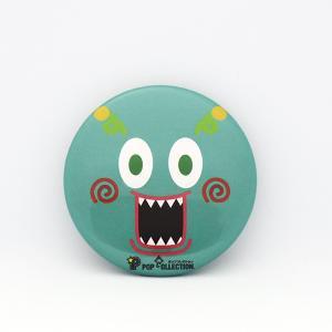 缶バッジ 缶バッチ 缶バッヂ キャラクター オリジナル シンプル 可愛い 緑色 丸型38ミリ ミドビヨ|pop-collection