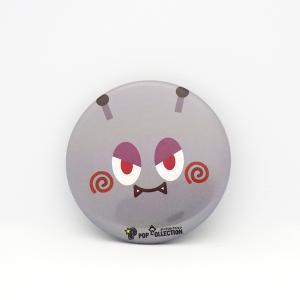 缶バッジ 缶バッチ 缶バッヂ キャラクター オリジナル 可愛い シンプル グレー 丸型38ミリ マルビヨ|pop-collection
