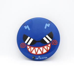 缶バッジ 缶バッチ 缶バッヂ キャラクター シンプル オリジナル 可愛い 青色 丸型38ミリ 宇宙人 アオビヨ|pop-collection