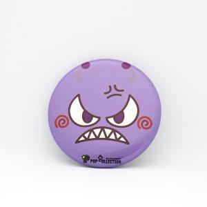 缶バッジ 缶バッチ 缶バッヂ キャラクター オリジナル 可愛い 紫色 丸型38ミリ 宇宙人 ムラビヨ|pop-collection