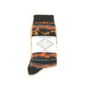 FACETASM(ファセッタズム) / MOHAIR SOCKS (BLACK)|pop5151