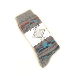 FACETASM(ファセッタズム) / MOHAIR SOCKS (GREY)|pop5151