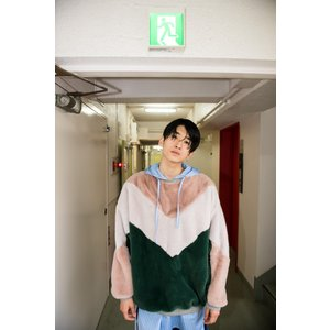 DISCOVERED(ディスカバード) / Fur pullover (GREEN×PINK)|pop5151