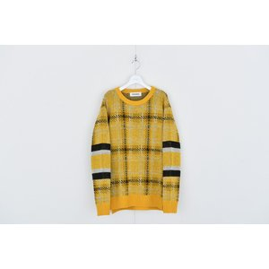 DISCOVERED(ディスカバード) / Check line sweater (YELLOW)|pop5151