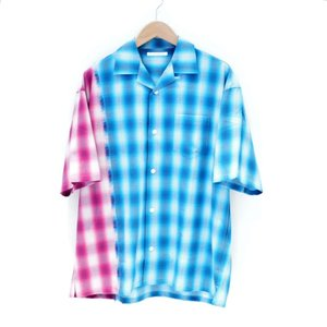 DISCOVERED(ディスカバード) / OMBRE CHECK SHIRT(BLU×PINK)|pop5151