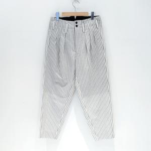 JieDa(ジエダ) / STRIPE 3TUCK SLACKS (WHITE)|pop5151