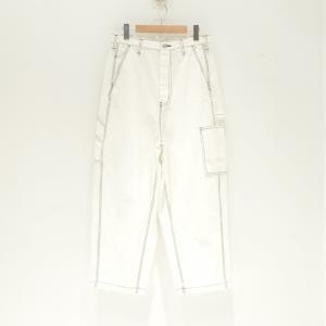 JieDa(ジエダ) / WIDE PAINTER PANTS (WHITE)|pop5151