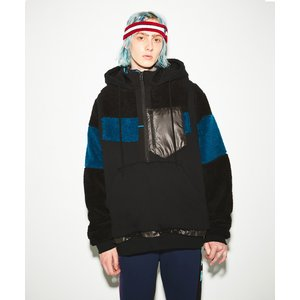 FACETASM(ファセッタズム) / MIX PULLOVER JACKET (BLACK)|pop5151