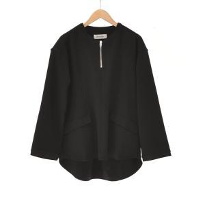 Prasthana(プラスターナ) / semidress smock [stretch doublecloth] (BLACK)|pop5151