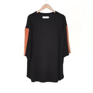 Prasthana(プラスターナ) / 2tone half sleeve (BLACK)|pop5151