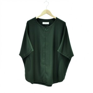 Prasthana(プラスターナ) / slick shirt(GREEN)|pop5151