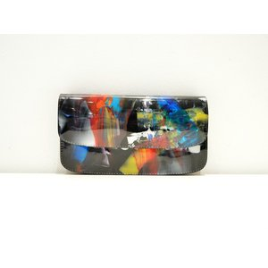 macromauro(マクロマウロ) / paint black wallet jabara (長財布) pop5151