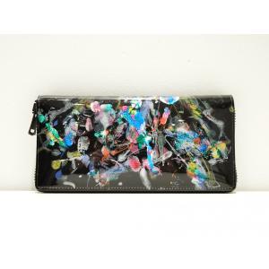 macromauro(マクロマウロ) / paint black wallet jumbo  (長財布) pop5151
