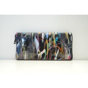 macromauro(マクロマウロ) / paint black wallet jumbo  (長財布)|pop5151