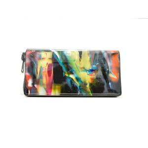 macromauro(マクロマウロ) / paint black wallet M (長財布)|pop5151